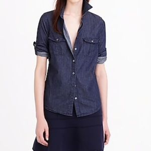 J Crew Keeper Chambray button down denim top
